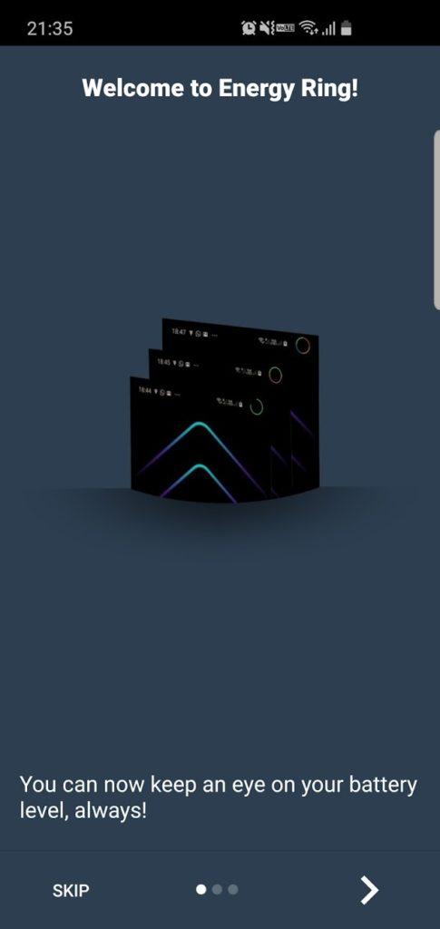 Energy Ring 起動画面