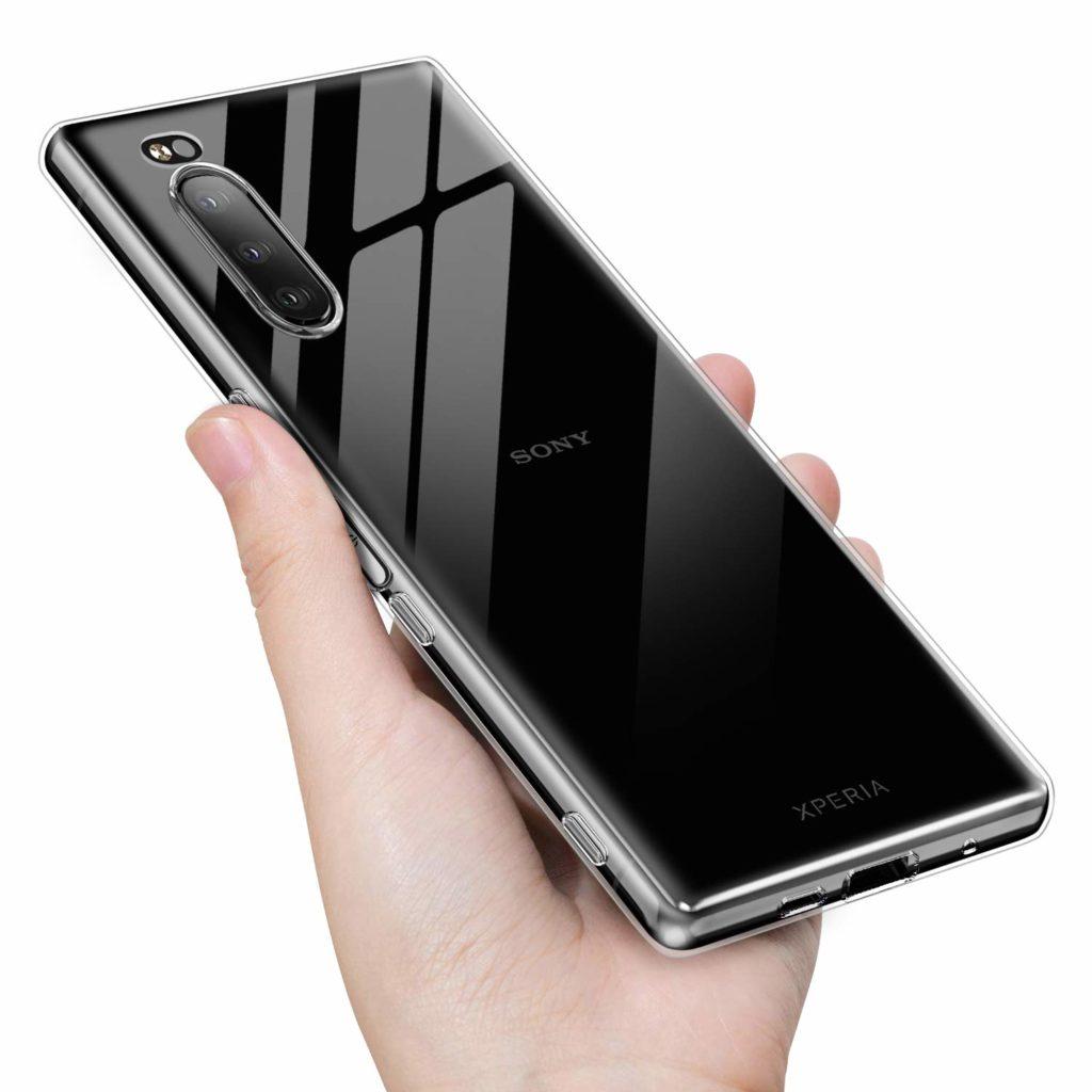 Xperia5 シリコン製クリアケース