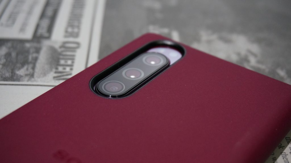 Xperia 5 Style Cover カメラ部分