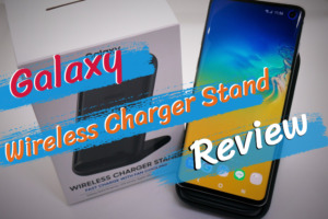 Galaxy Wireless Charger Standのレビュー|急速充電可能なACアダプタ付属でコスパ良し!