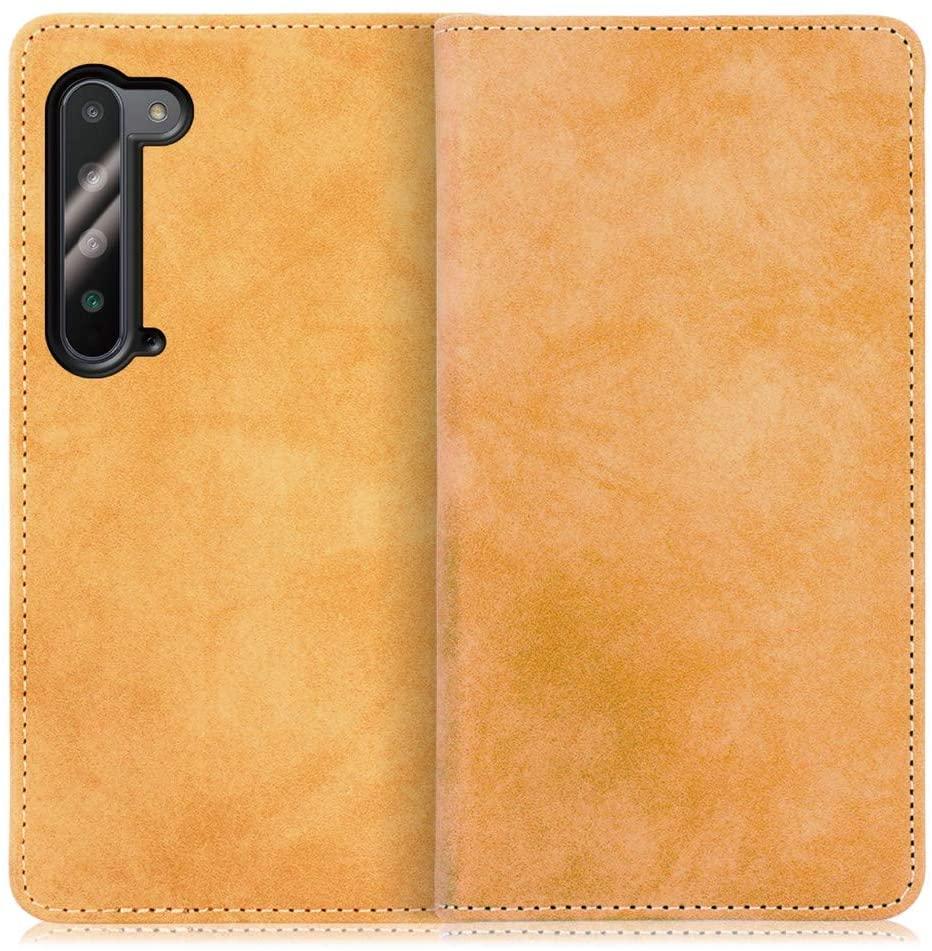 【Looco】AQUOS R5G用 くすみ感が味わい深い 手帳型スマホケース