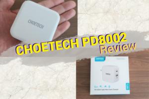 CHOETECH PD8002のレビュー|最大60WのUSB-A&Cポートを搭載した良コスパ充電器
