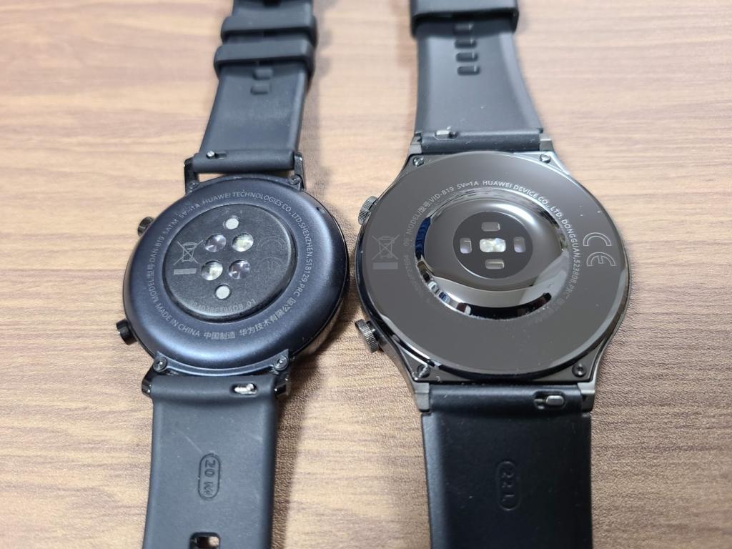 左:GT2(42mmモデル) 右:GT2 Pro