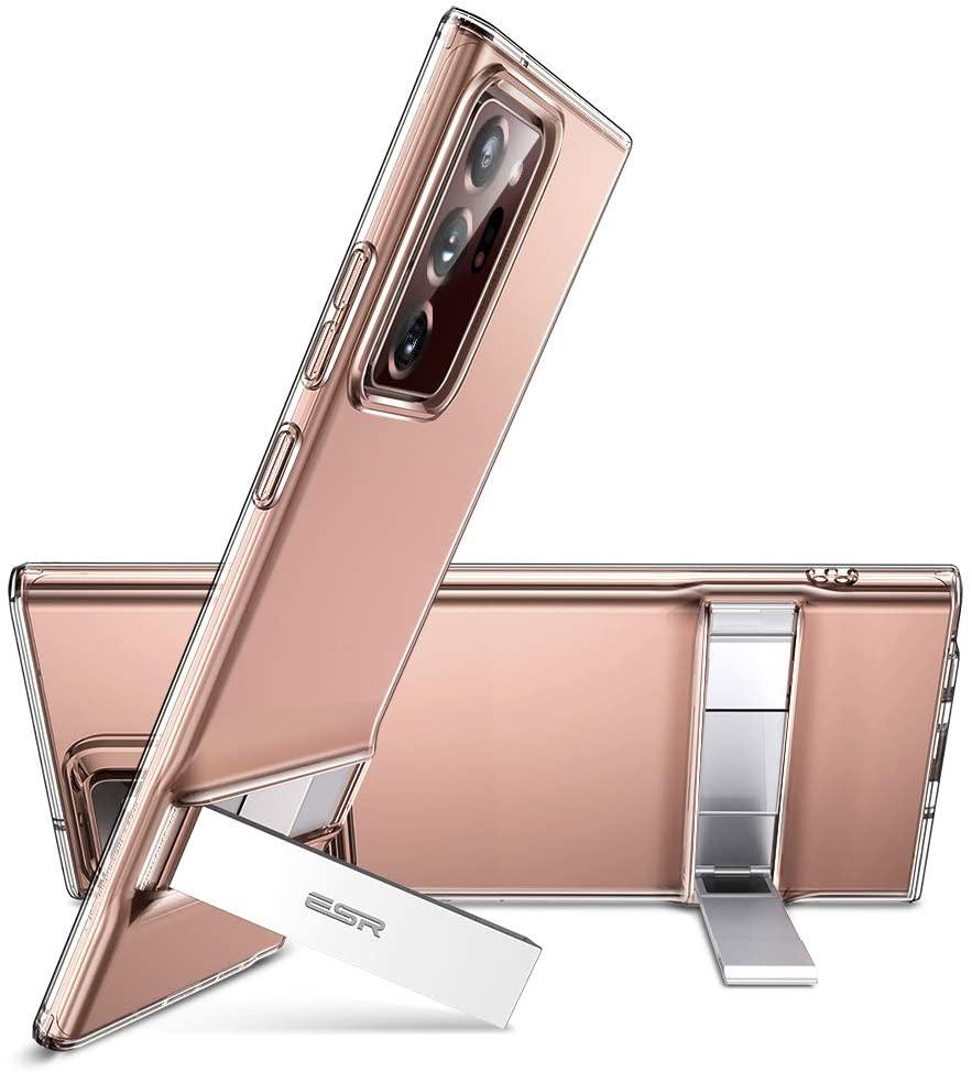ESR Galaxy Note20 Ultra スタンド付きクリアケース
