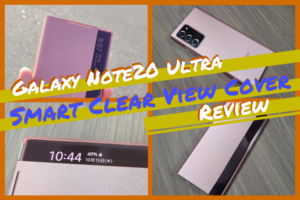 【Galaxy Note20 Ultra】Smart Clear View Coverのレビュー|ラグジュアリー感満載な純正ケース