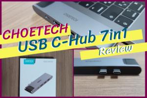 CHOETECH USB Cハブ 7in1 レビュー