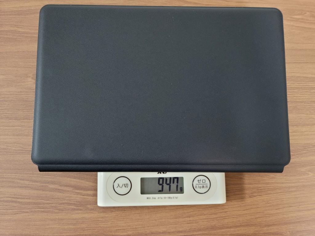 Galaxy Tab S7+ケースの重量